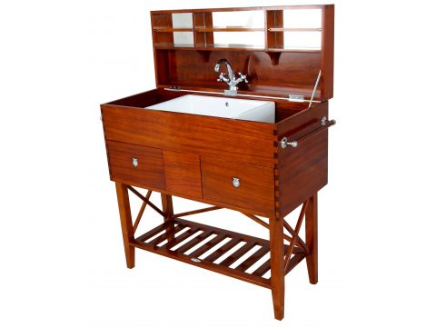 Washstand trunk with mirror - TREKKING