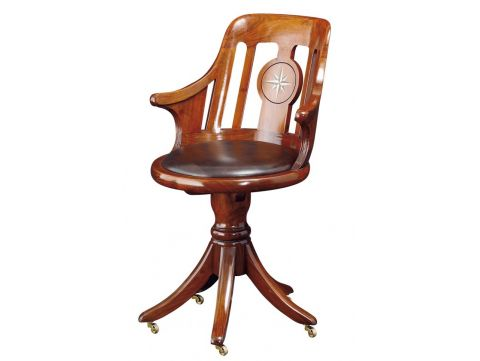 Desk Chair Rosewood finish - NORMANDIE