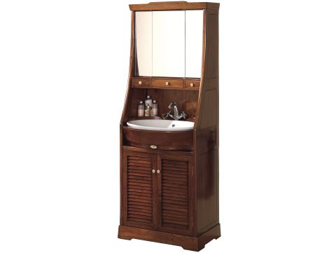 Washstand with mirror and storages - SAINT LOUIS