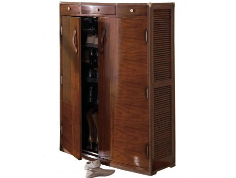 Shoes rack cabinet two doors three drawers - PONDICHERY