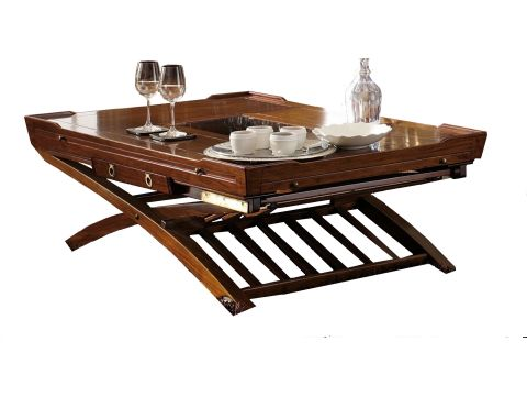 Coffee table, two heights  and four removable extensions - MAGELLAN
