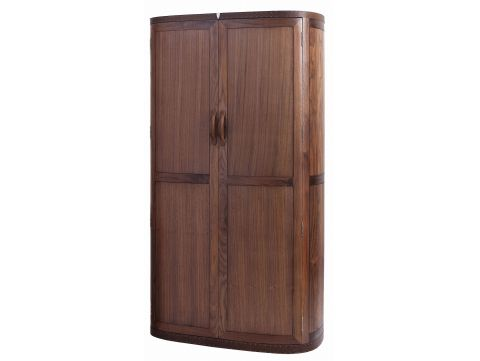 Wardrobe two doors and four drawers, walnut - MALAGA