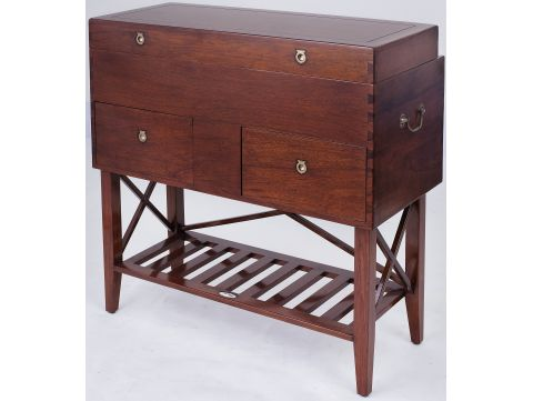 Washstand trunk with mirror and storages - TREKKING