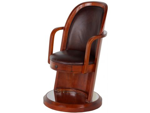 Desk chair Rosewood finishing and leather - LORD KENDAL