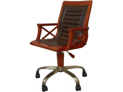 Desk chair swivel and height adjustable foot bronze - HALIFAX
