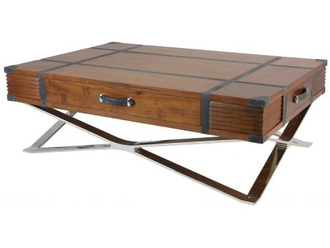 Rectangular coffee table, eight  closed storages  - NEW YORK