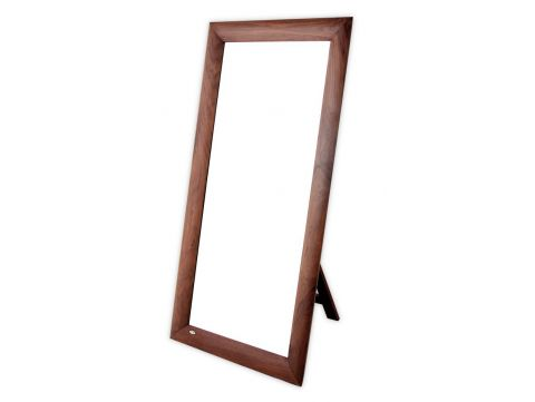 Full-length mirror in walnut, easel-back - VALPARAISO