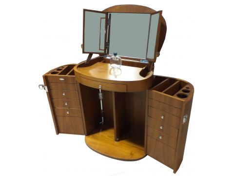 Vanity / dressing table with mirror. walnut - MARIE GALANTE