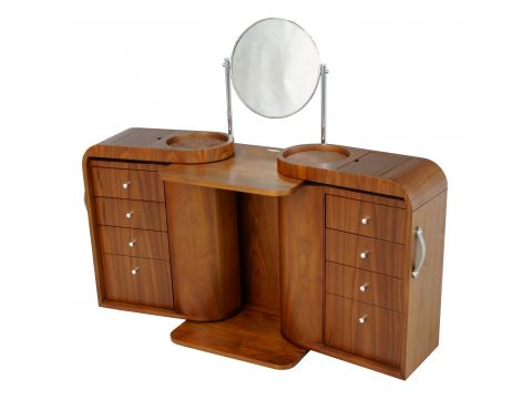 Dressing table black walnut, with mirror - MARILYN