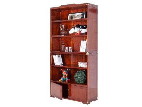 Bookcase  Rosewood. Two doors five shelves - MARCO POLO