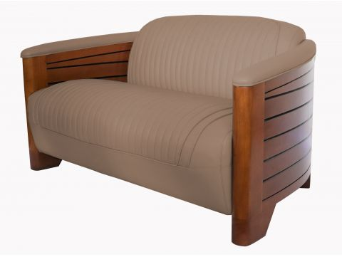 Club Sofa Pirogue - taupe leather