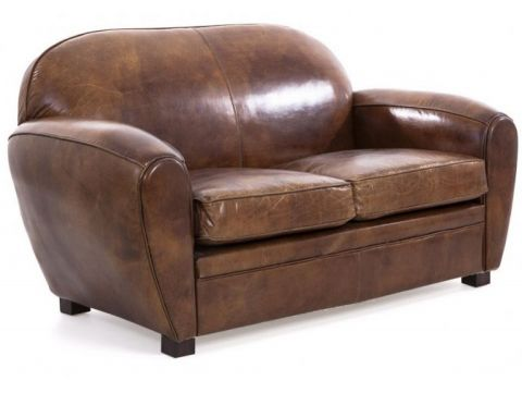 modele Brown cigar club sofa - 2 seaters - CHURCHILL