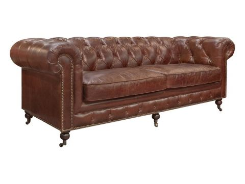 Brown Chesterfield Sofa Cigar - 2 seaters