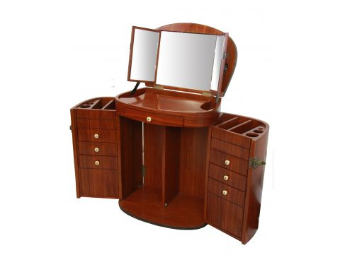 Dressing table with mirror, Rosewood finish - MARIE GALANTE