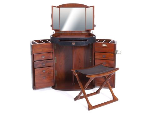 Black dressing table with mirror- MARIE GALANTE