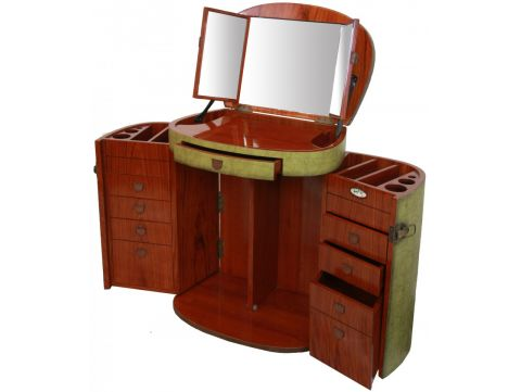 Jade makeup table with mirror  - MARIE GALANTE