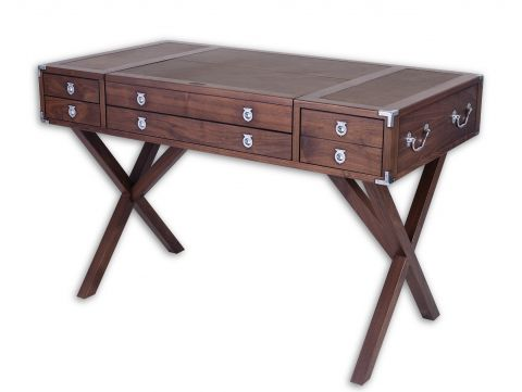 Desk in walnut, three drawers  - EQUATEUR