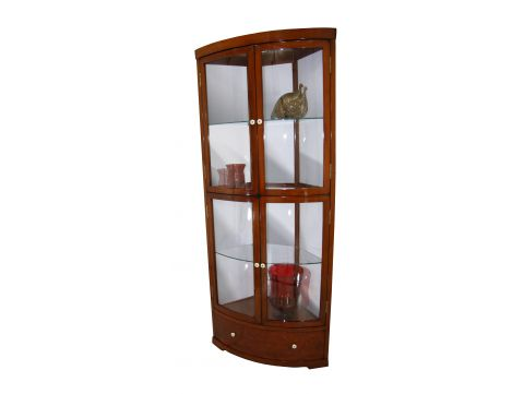 Corner display cabinet four doors one drawer - NEPAL