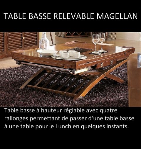 Table basse relevable Magellan