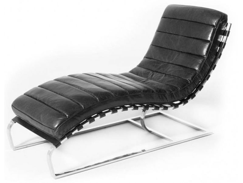 Tremendous Lounge Chair Relax Armchair Black Leather And Chromed Metal Caraccident5 Cool Chair Designs And Ideas Caraccident5Info