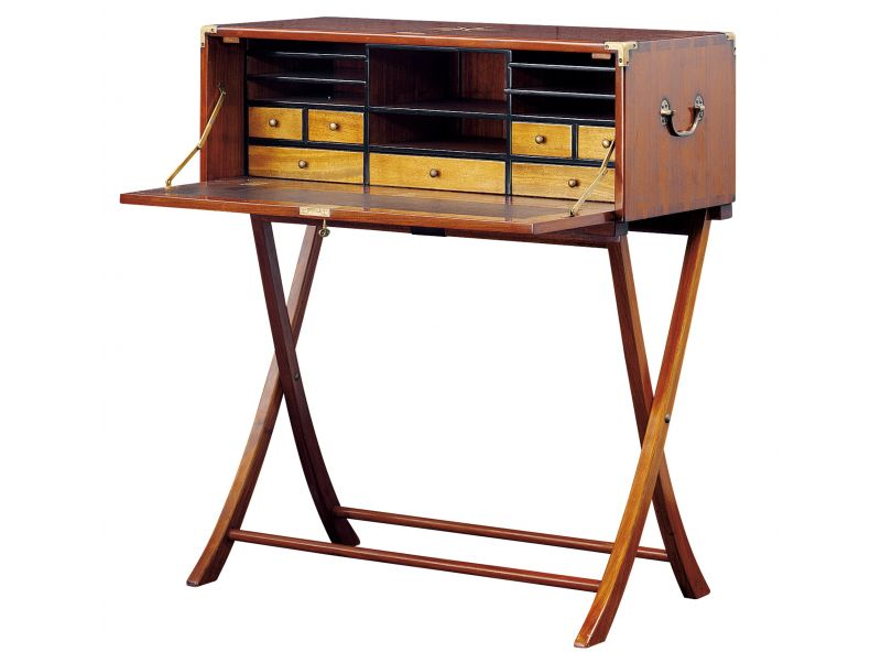 Writing desk, seven drawers and storages - INDOCHINE