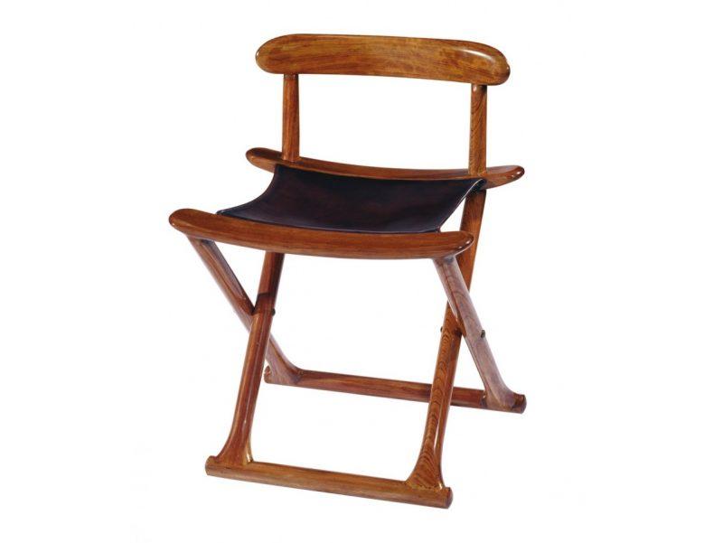 Chaise pliable bois et cuir bermudes for Chaise bois et cuir