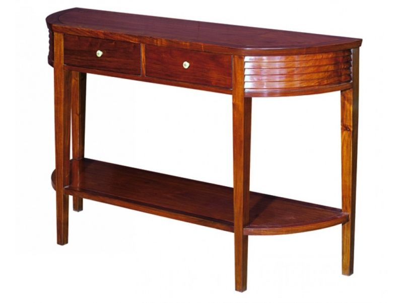 Half moon console, two drawers / Sofa table  - PANAMA