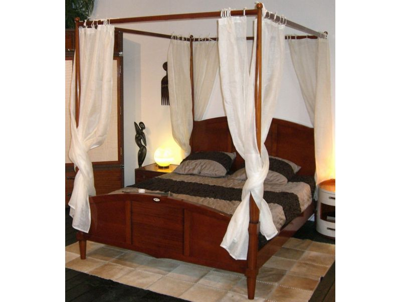 lit baldaquin deux places 160 cm madagascar. Black Bedroom Furniture Sets. Home Design Ideas