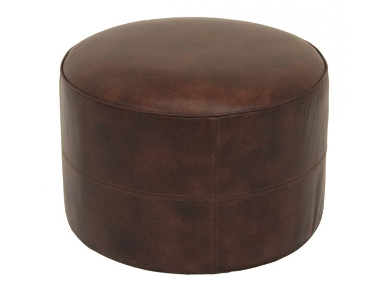 pouf en cuir marron marie galante. Black Bedroom Furniture Sets. Home Design Ideas