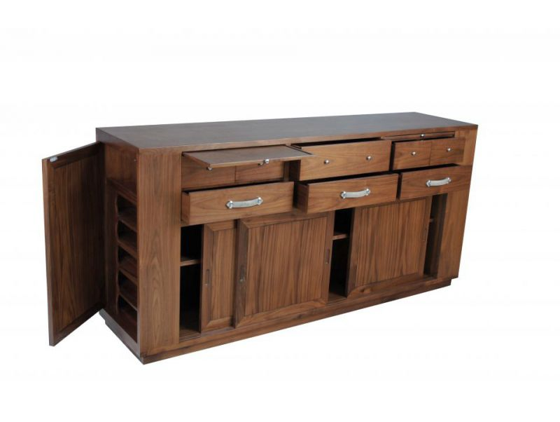 Sideboard / Buffet three sliding doors and six drawers, in walnut - VERA CRUZ
