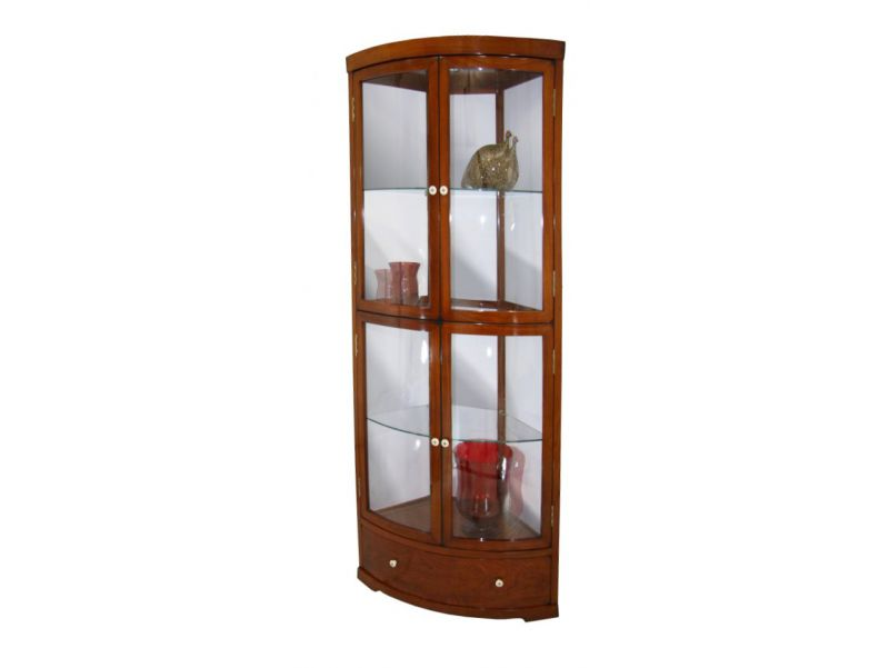 Corner glass display case - NEPAL