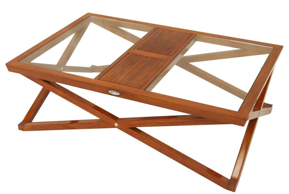 table basse rectangulaire bois et verre oslo. Black Bedroom Furniture Sets. Home Design Ideas