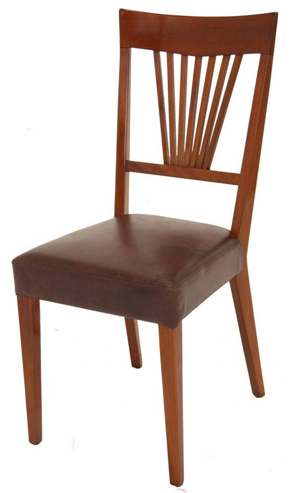 chaise bois cuir affordable chaise bois laqu blanc et cuir noir early with chaise bois cuir. Black Bedroom Furniture Sets. Home Design Ideas