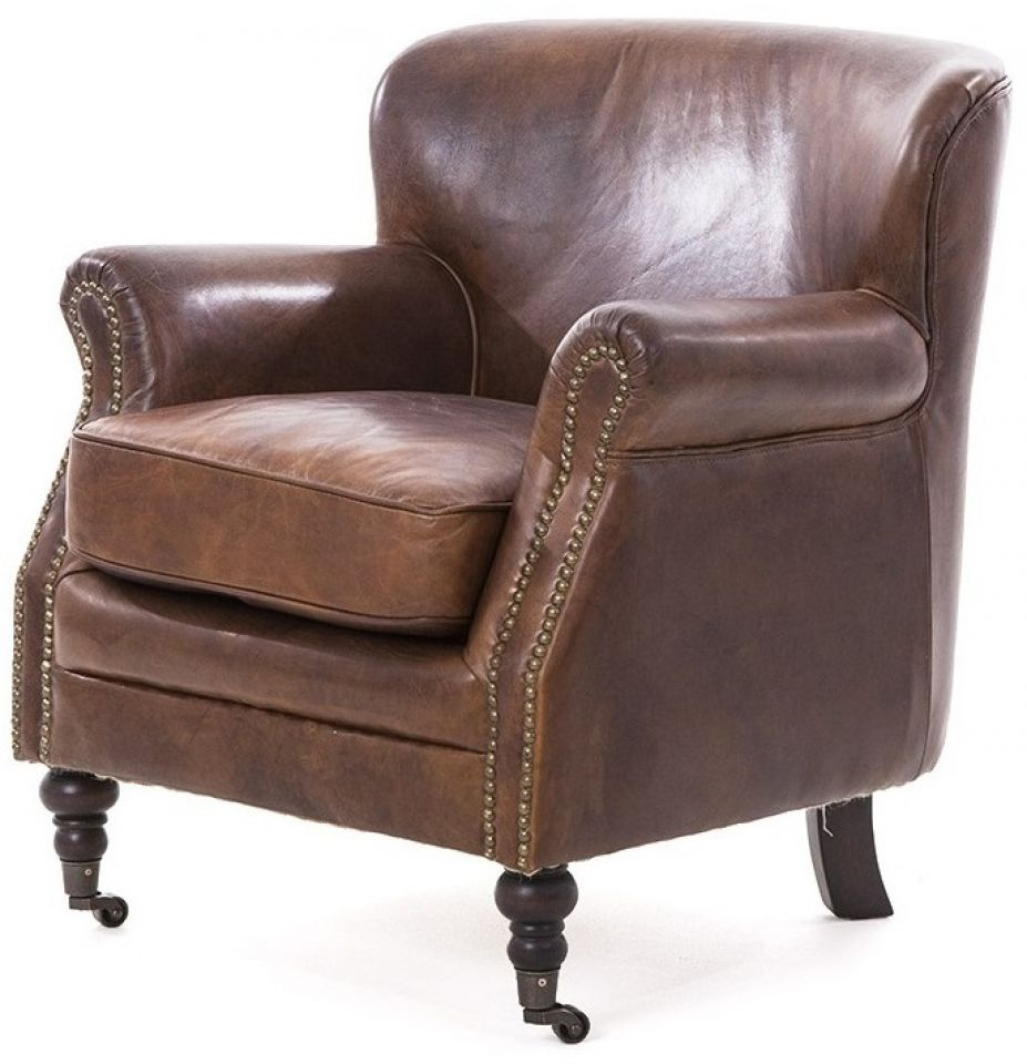 Brown Leather Armchair   PROFESSOR