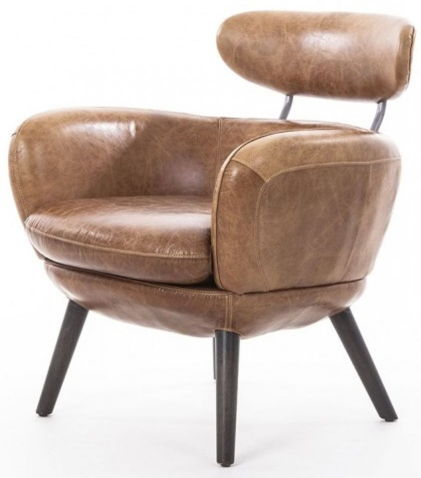 Brown Leather Armchair   RUBIS