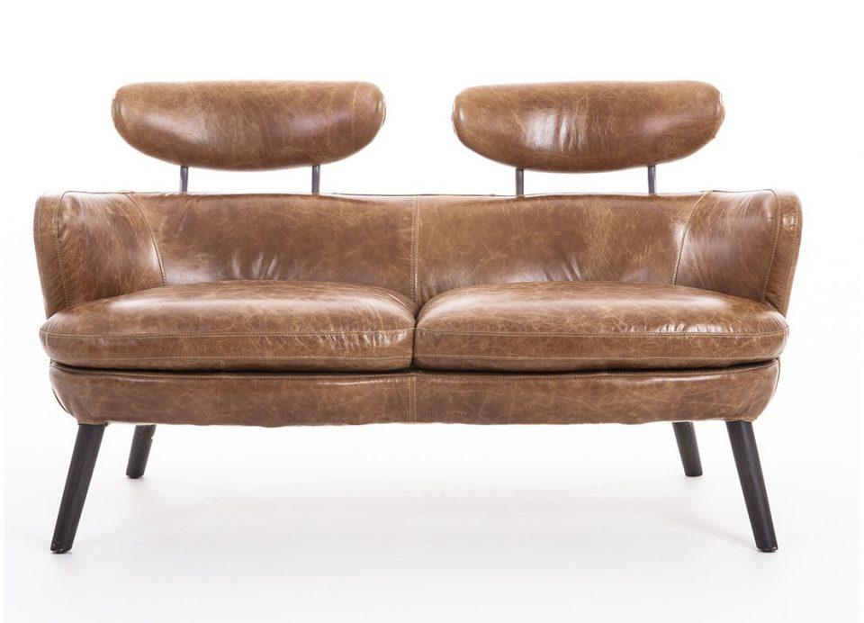 canap cuir marron deux places rubis. Black Bedroom Furniture Sets. Home Design Ideas