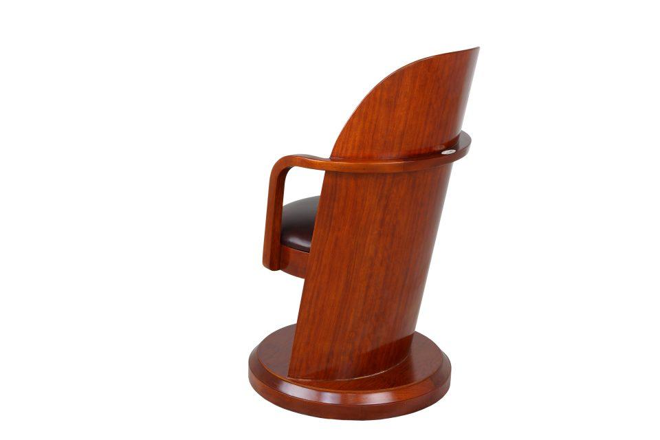Fauteuil de bureau bois et cuir lord kendal