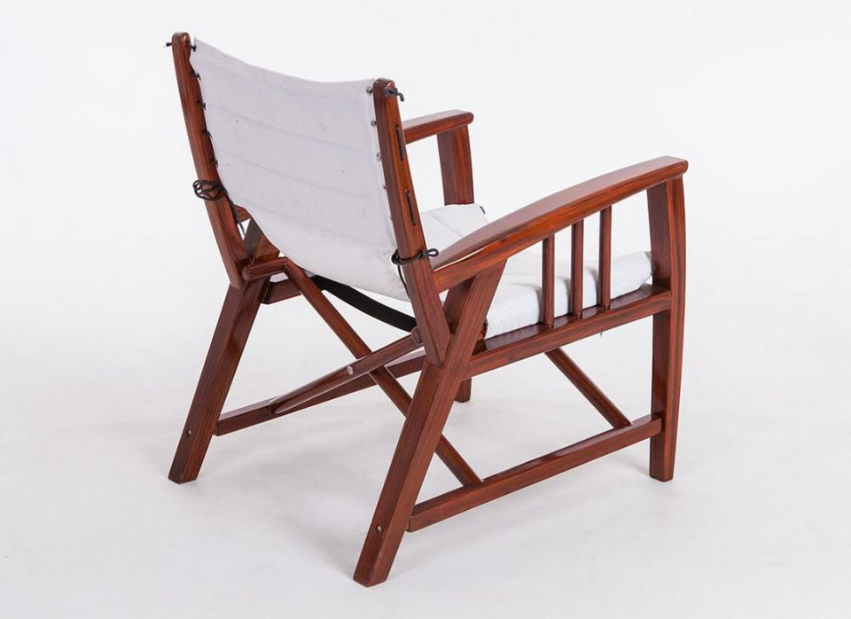 fauteuil pliable en toile sunbrella blanc havana. Black Bedroom Furniture Sets. Home Design Ideas