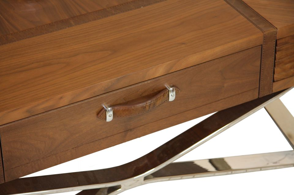 New York Carrée Rangementsnoyer Inox Et Table Cuir Basse Avec A4LRj5