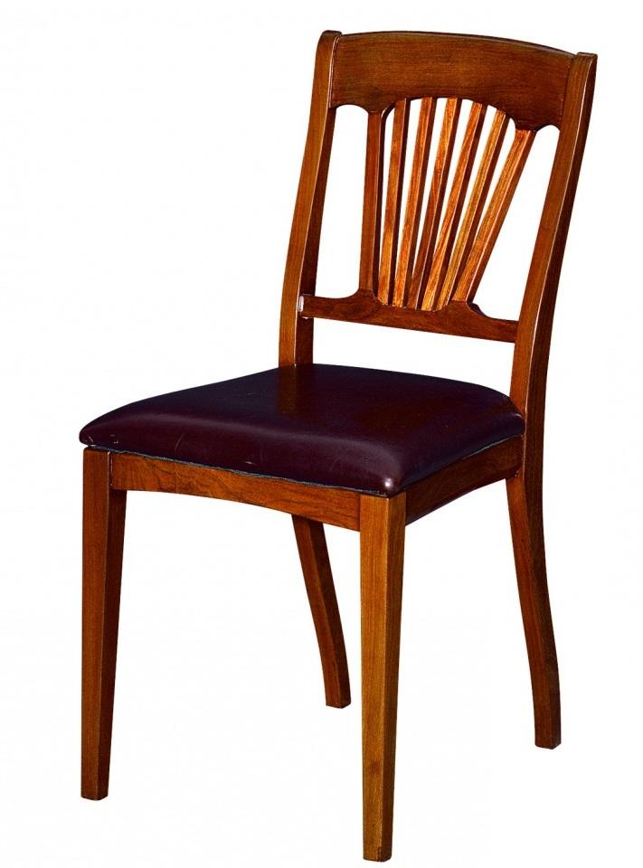 Chaise bois et cuir trinidad for Chaise bois et cuir