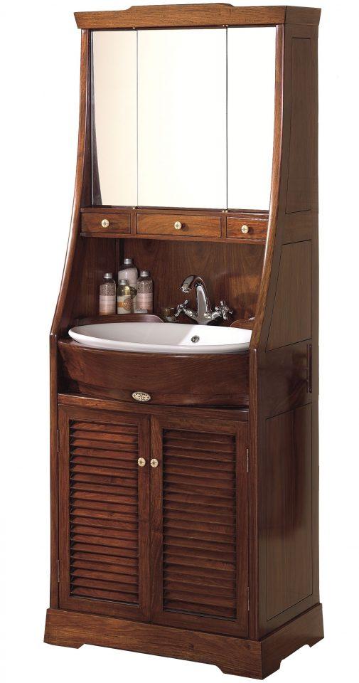 lavabo avec miroir et rangements saint louis. Black Bedroom Furniture Sets. Home Design Ideas