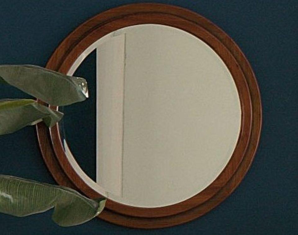 miroir rond hublot entourage bois brest