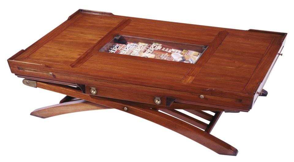 table basse quatre tablettes et tiroirs magellan. Black Bedroom Furniture Sets. Home Design Ideas