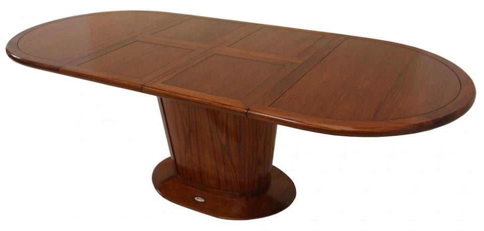 Table à manger avec allonges, douze personnes, 250 cm - MAYOTTE