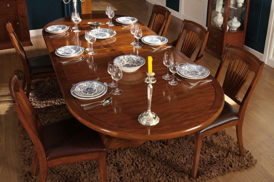 Table A Manger Avec Allonges Douze Personnes 250 Cm Mayotte