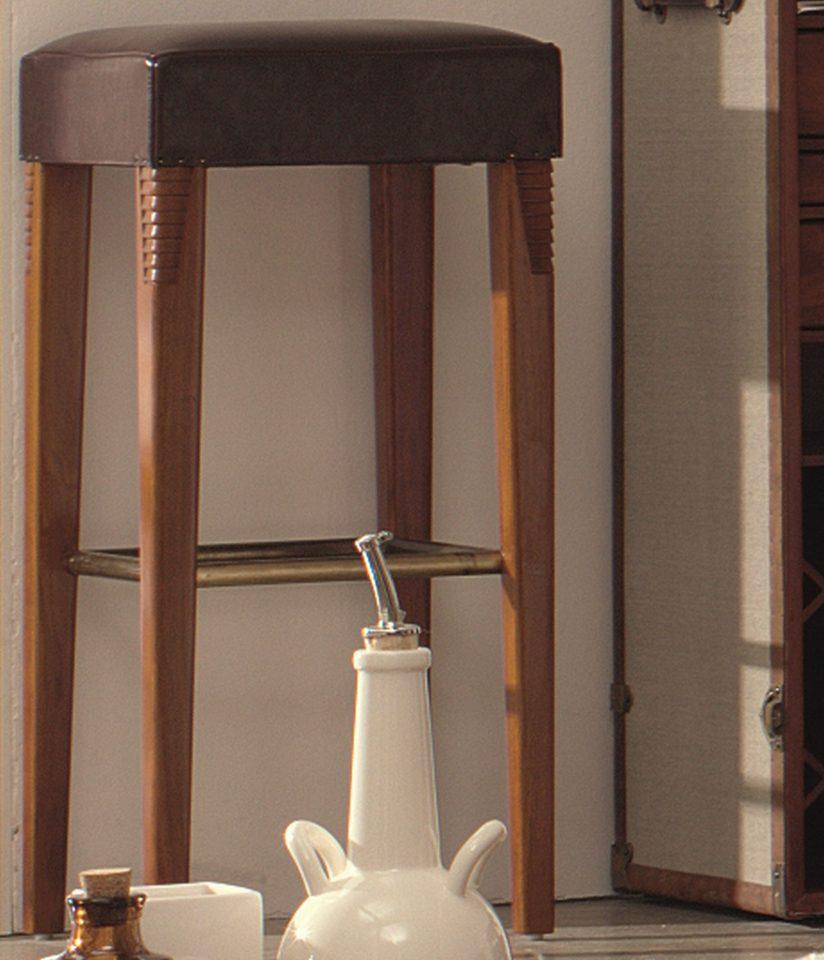 tabouret de bar bois et cuir zambra. Black Bedroom Furniture Sets. Home Design Ideas