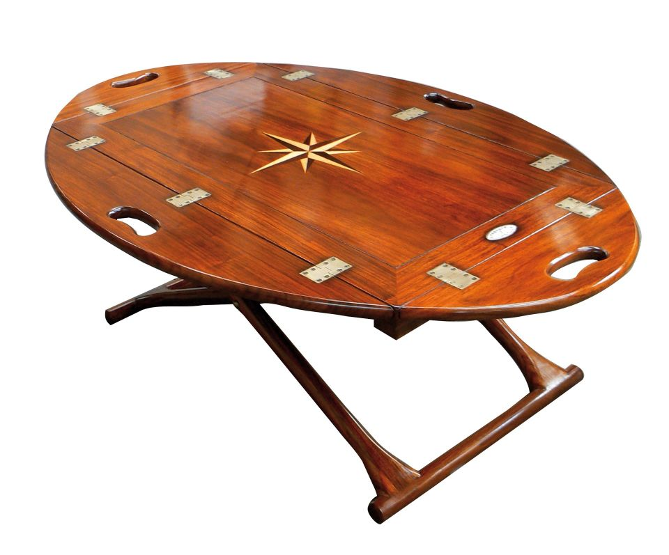 Small Foldable Coffee Table Butlers Tray Jean Bart