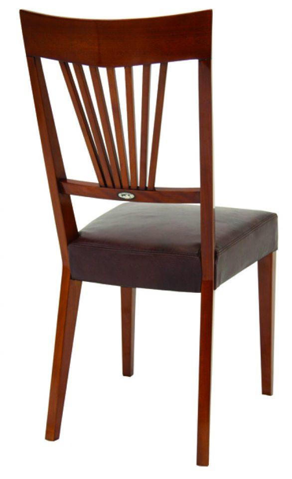 chaise bois et cuir cambridge. Black Bedroom Furniture Sets. Home Design Ideas