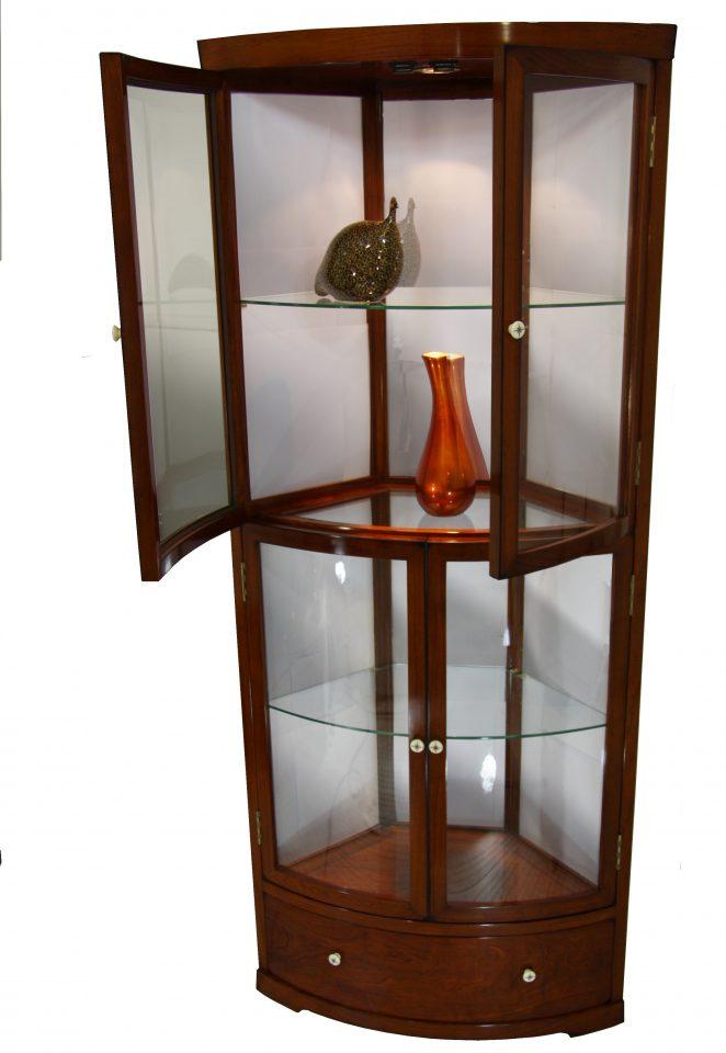 nepal corner display cabinet