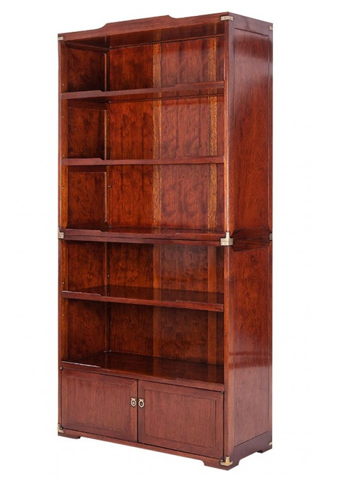 Bookcase Rosewood Two Doors Five Shelves